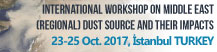 INTERNATIONAL WORKSHOP ON MIDDLE EAST (REGIONAL) DUST SOURCES AND THEIR IMPACTS