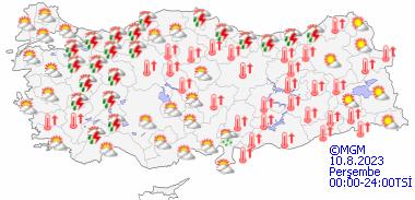 haritatahminkucukgun5 19   20   21  22 Nisan 2012 Hava Durumu Meteoroloji Raporları