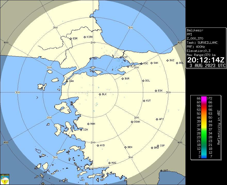 Radar Görüntüsü: Balıkesir, PPI