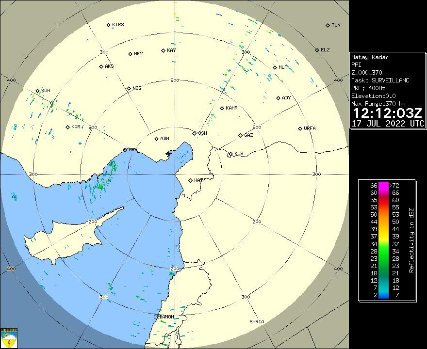 Radar Görüntüsü: Adana, PPI