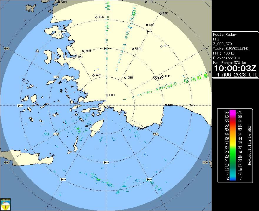 Radar Görüntüsü: Muğla, PPI