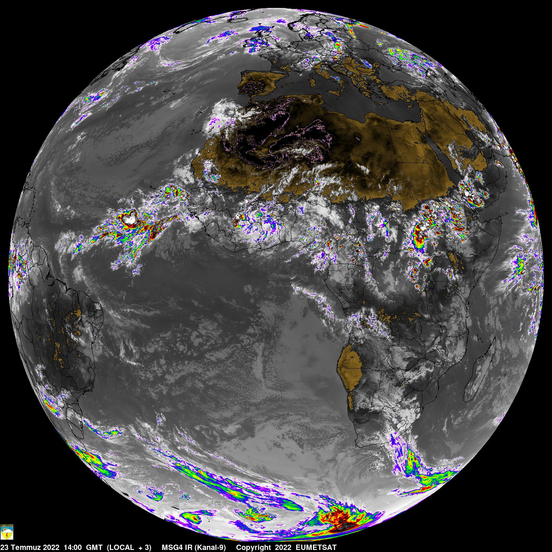 Weather Dust And Climate Center WDCC - Latest world satellite images