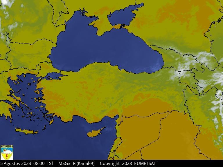Uydu Fotoğrafı: KIZILÖTESİ - TÜRKİYE