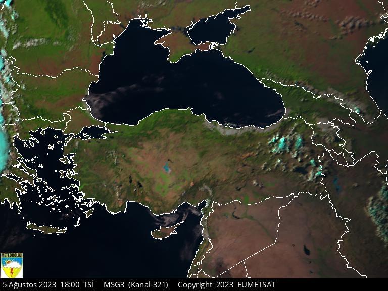 Uydu Fotoğrafı: GÖRÜNÜR - TÜRKİYE