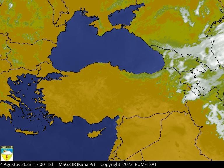 Uydu Fotoğrafı: KIZILÖTESİ / TÜRKİYE