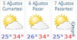 3 günlük hava tahmini